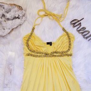 SKY Sunny Mini dress with Leather detail! Medium